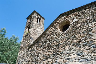 Bell tower at an old church in Andorra