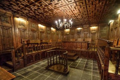 Wooden details in a room at Casa de la Vall in Andorra