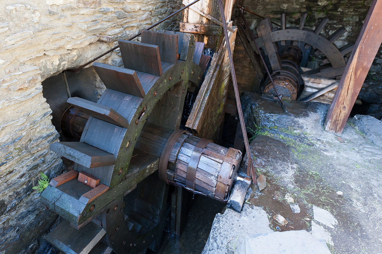 Wooden water wheel in Andorra