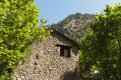 Profile at the back of a bordes in Andorra