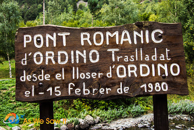 Old stone bridge called Romantic