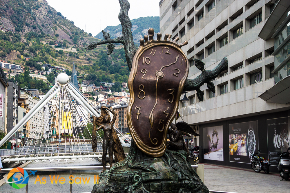 Salvador Dali sculpture 'Nobility of Time' in Andorra la Vella