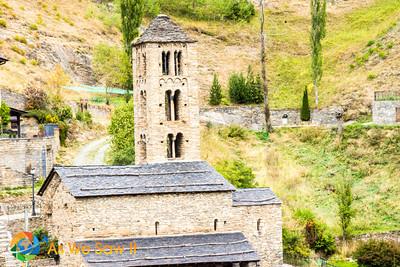 Stone church tower