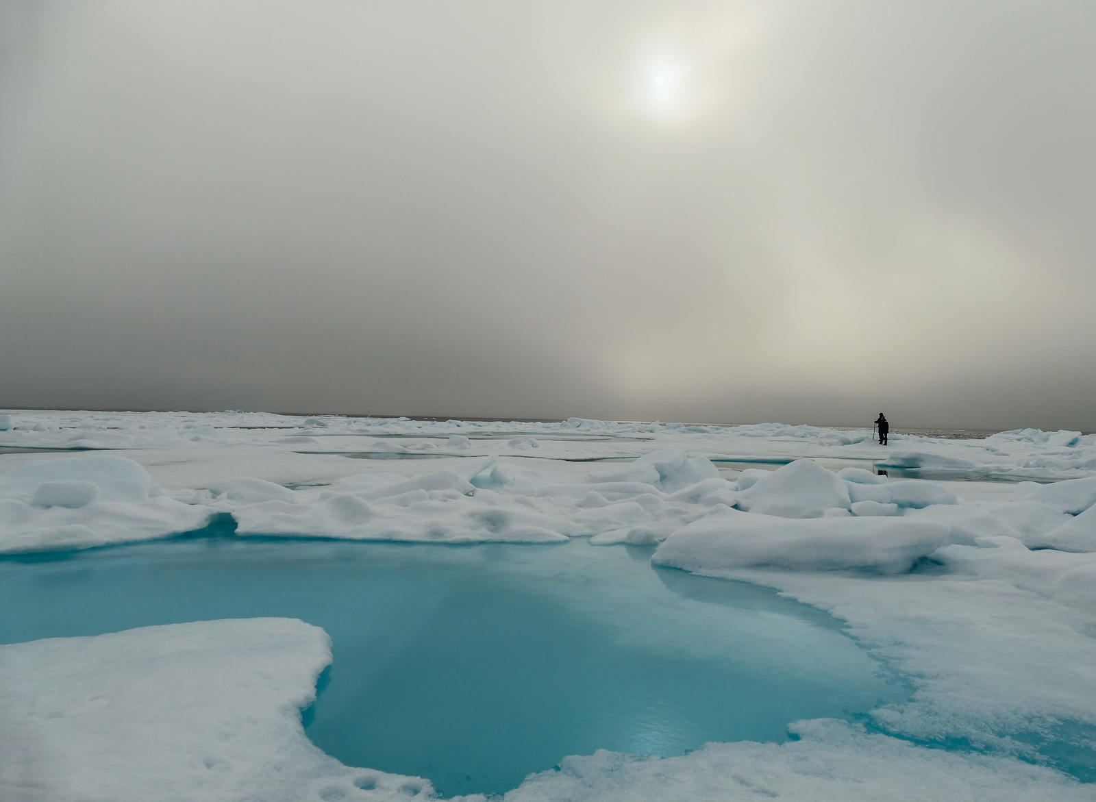 Walking on the Arctic ice is a surreal experience.