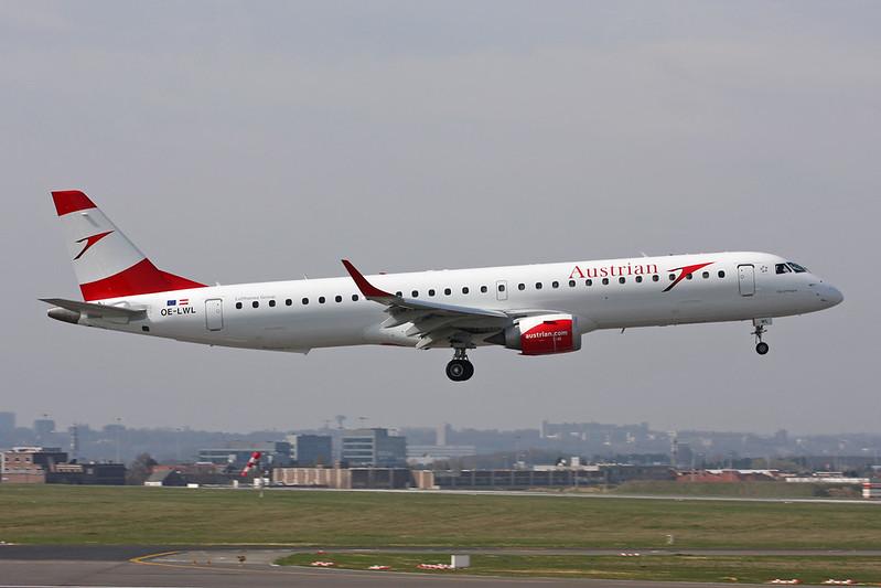 OE-LWL Embraer Emb-195-200LR c/n 19000532 Brussels/EBBR/BRU 26-03-17