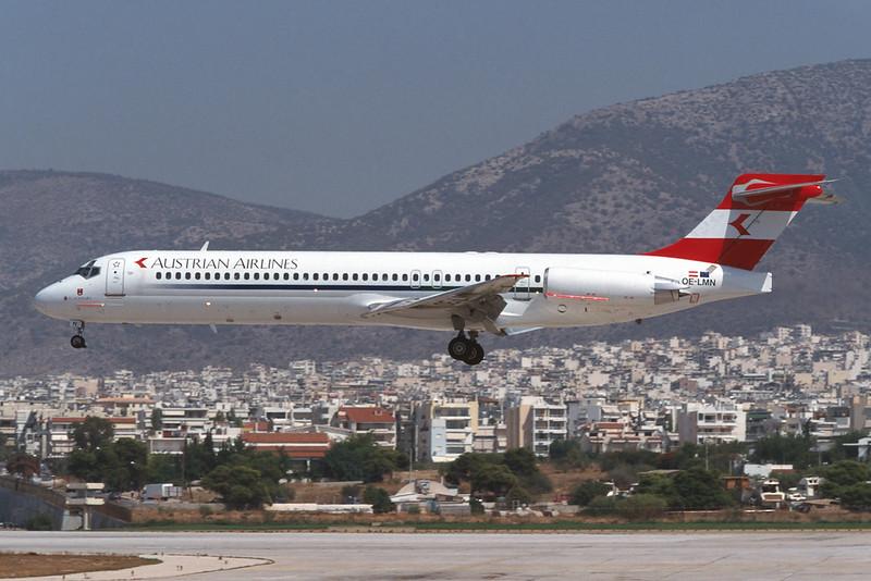 OE-LMN Douglas MD-87 c/n 49414 Athens-Hellenikon/LGAT/ATH 19-09-00 (35mm slide)