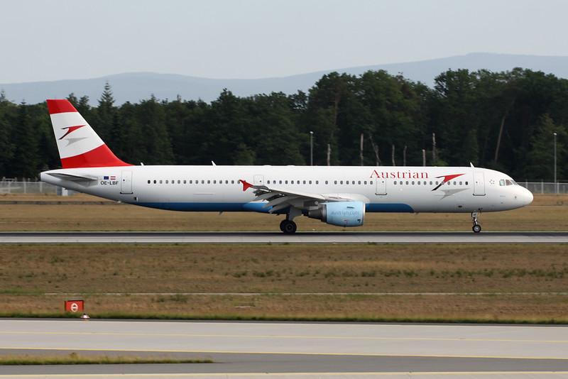 OE-LBF Airbus A321-211 c/n 1458 Frankfurt/EDDF/FRA 04-06-15