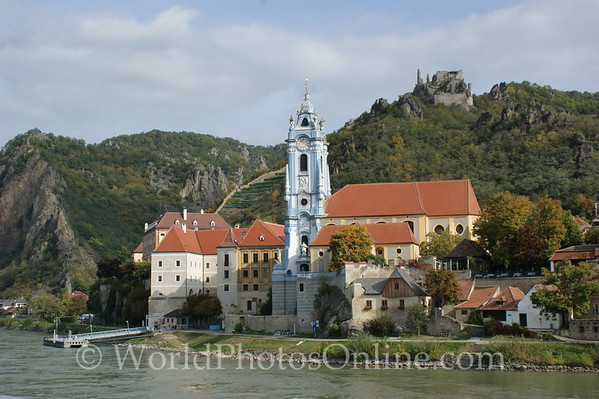 Durnstein - Durnstein Abbey and Church Tower 1