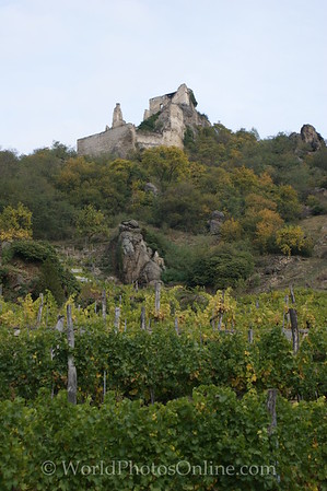 Durnstein - Castle (ruins) where  King Richard I Lionheart was held captive