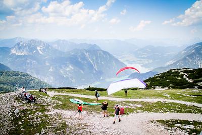 Paragliding from Welterbespirale viewing platform