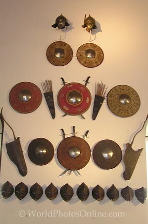 Innsbruck - Schloss Ambras - Armor Museum - Shields & Bows