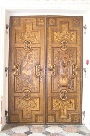 Innsbruck - Schloss Ambras - Spanish Hall Doors