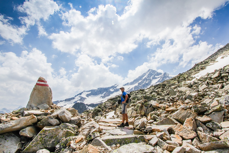 Walk to Olperer mountain hut, Zillateral Alps