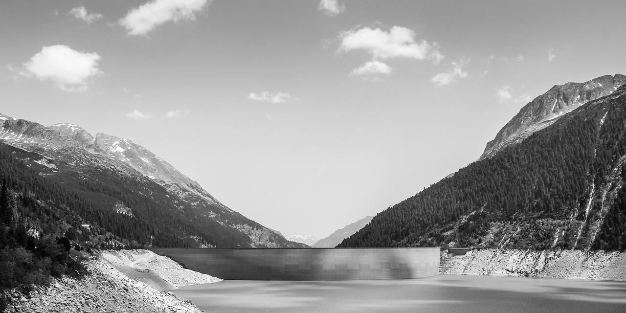 Schlegeis water reservoir