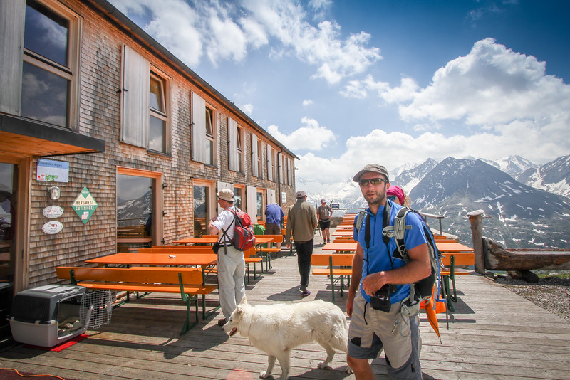 Olperer mountain hut, Zillateral Alps