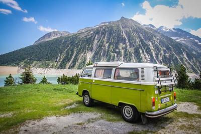 Schlegeis Lake in Tyrol, Austria