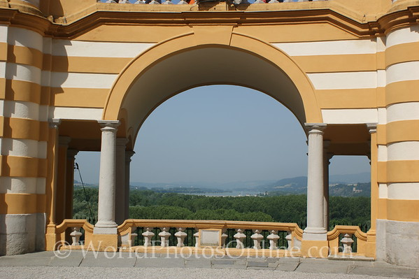 Melk - Benedictine Abbey - View from St Coloman's Courtyard