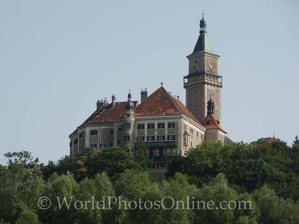 Danube - Wallsee - Castle Wallsee from the Danube River