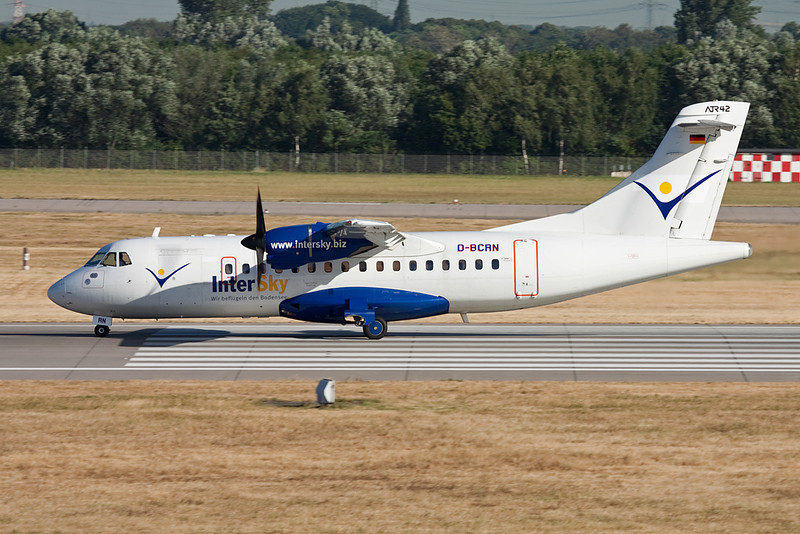 "D-BCRN Aerospatiale ATR-42-320 ""Avanti Air"" c/n 329 Dusseldorf/EDDL/DUS 16-07-10 ""Intersky"""