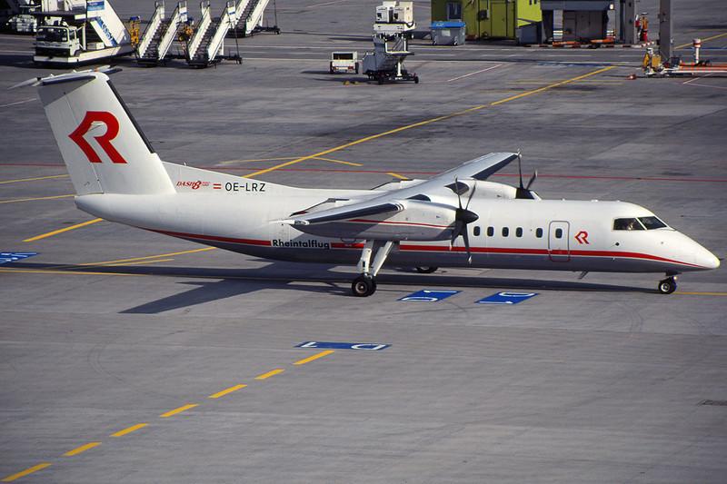 "OE-LRZ de Havilland Canada DHC-8-314B ""Rhientalflug"" c/n 410 Frankfurt/EDDF/FRA 10-07-96 (35mm slide)"