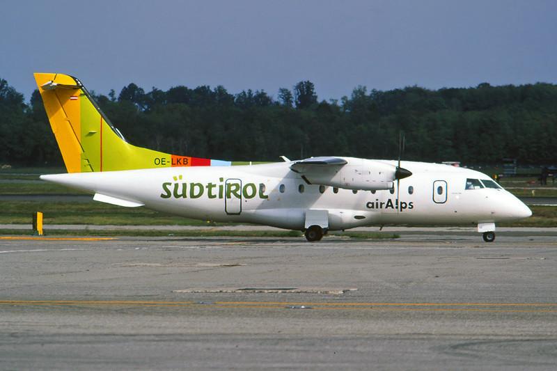 "OE-LKB Dornier Do.328-110 ""Air Alps Aviation"" c/n 3036 Milan-Malpensa/LIMC/MXP 24-09-05 ""Sudtirol"" (35mm slide)"