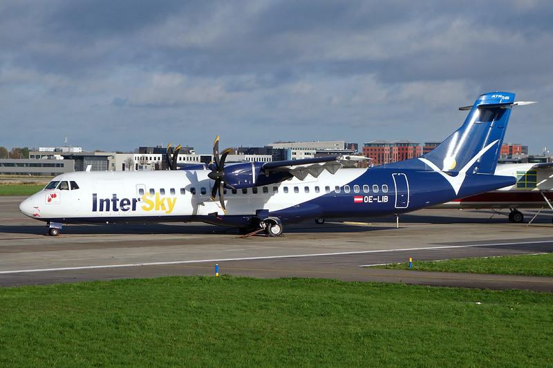 "OE-LIB Aerospatiale ATR-72-600 ""InterSky"" c/n 1038 Maastricht-Aachen/EHBK/MST 21-11-15"