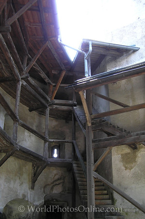 Outer Salzburg - Hohenwerfen Castle - Stairs to battlements