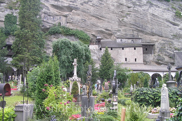 Salzburg - St Peter's Church - Cemetery with Catacombs in back