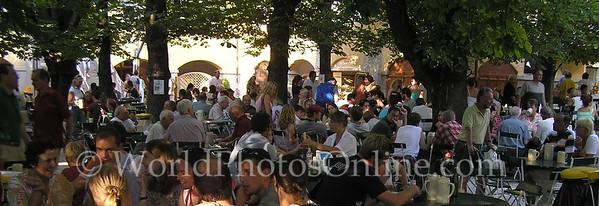 Salzburg - Augustiner Braustubl - Brewery, Beergarden, Church - Beer Garden
