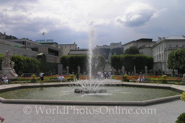 Salzburg - Schloss Mirabell Garden Fountain