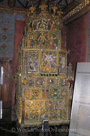 Salzburg - Hohensalzburg Castle - Stove in Gold Room