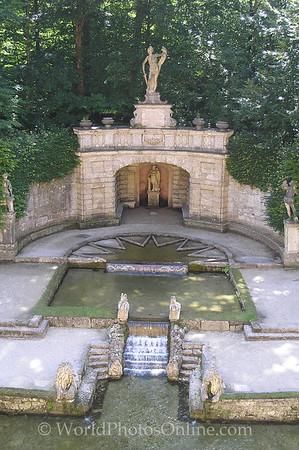 Salzburg - Hellbrunn - Trick Water Garden - Fountain 2