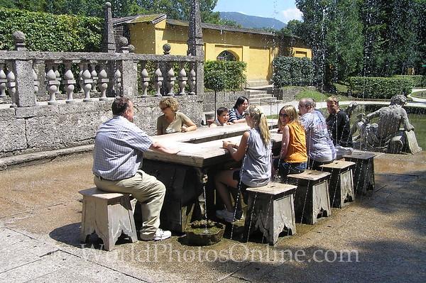 Salzburg - Hellbrunn - Trick Water Garden - Trick Table
