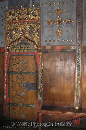 Salzburg - Hohensalzburg Castle - Door in Gold Room