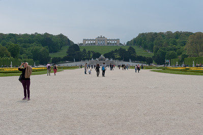 View of The Gloriette from the grounds of Schonbrunn Palace - Vienna, Austria