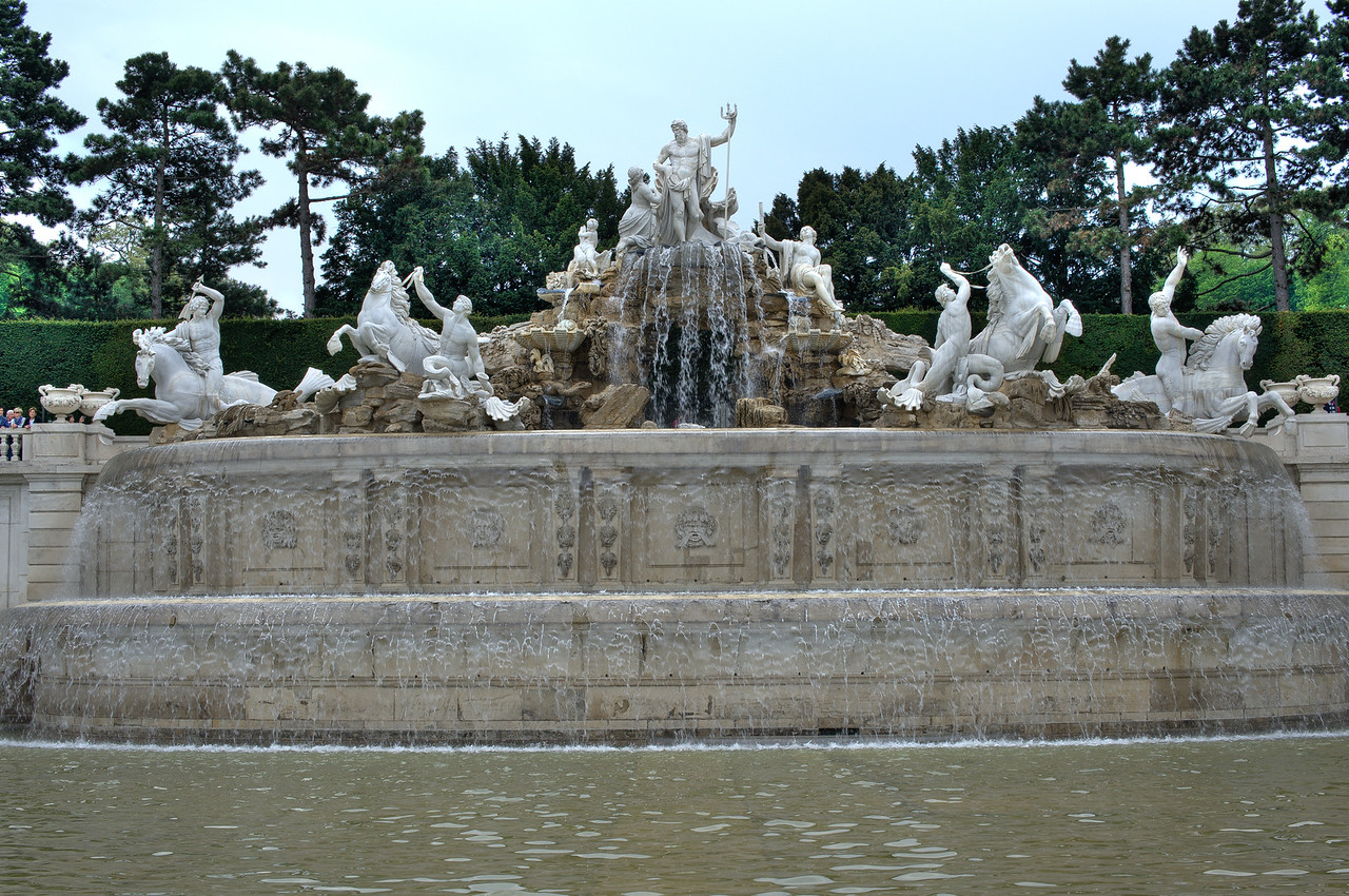 The Neptune Fountain in Vienna, Austria
