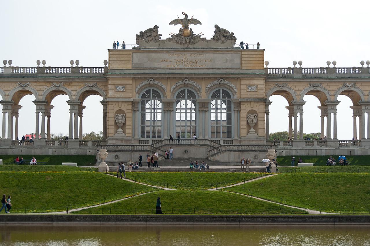 Large infrastructure within the Schonbrunn Garden and complex - Vienna, Austria