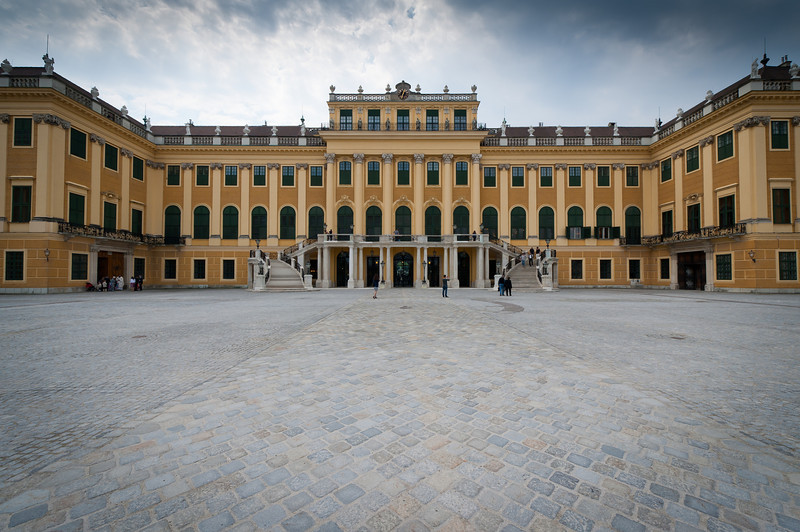 The Schonbrunn Palace facade - Vienna, Austria