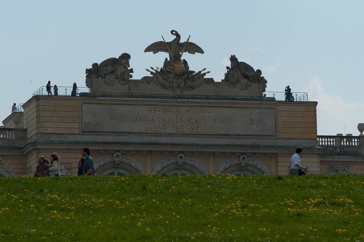 Tourists checking out the Schonbrunn Garden - Vienna, Austria
