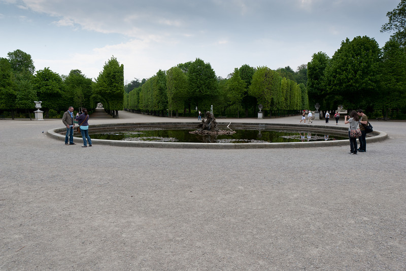 Lily Pond and Naiad Fountain in the Garden of the Schonbrunn Palace, Vienna, Austria