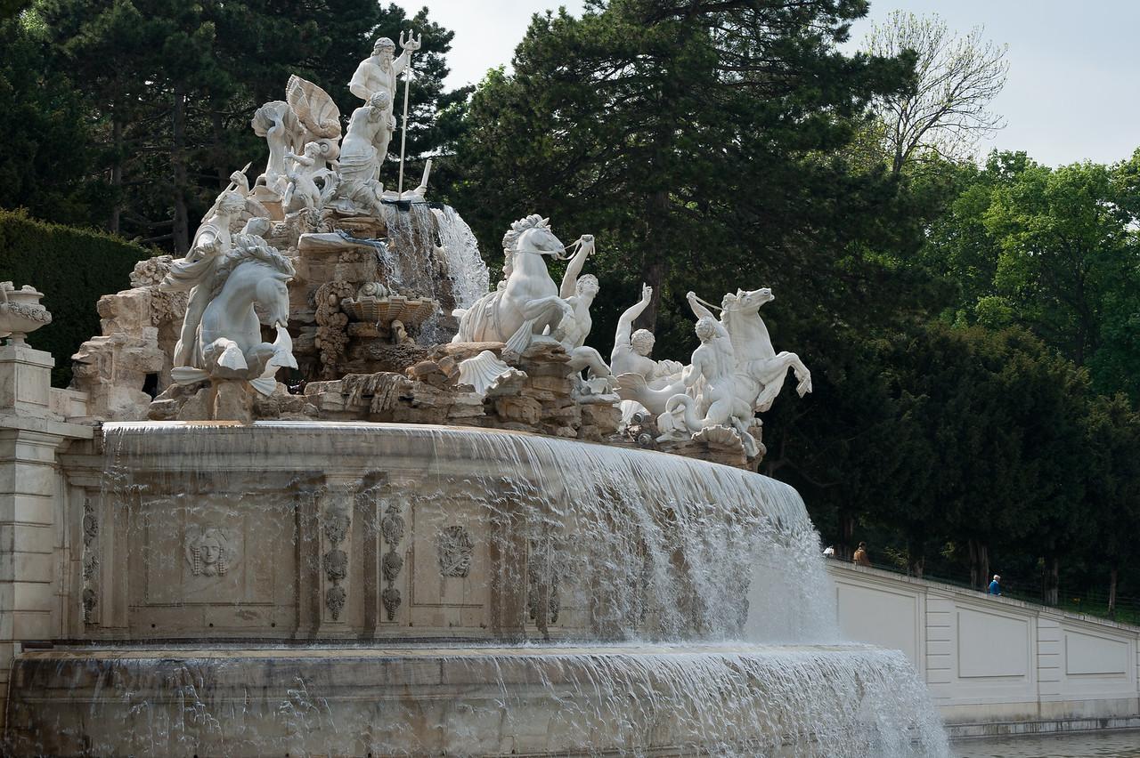 Neptune Fountain in the Schönbrunn Garden - Vienna, Austria