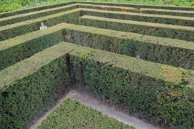 The hedge maze in Schonbrunn Garden - Vienna, Austria