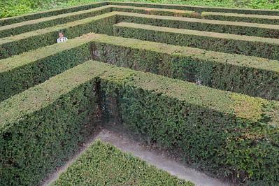 The hedge maze in Schonbrunn Garden - Vienna, Austria