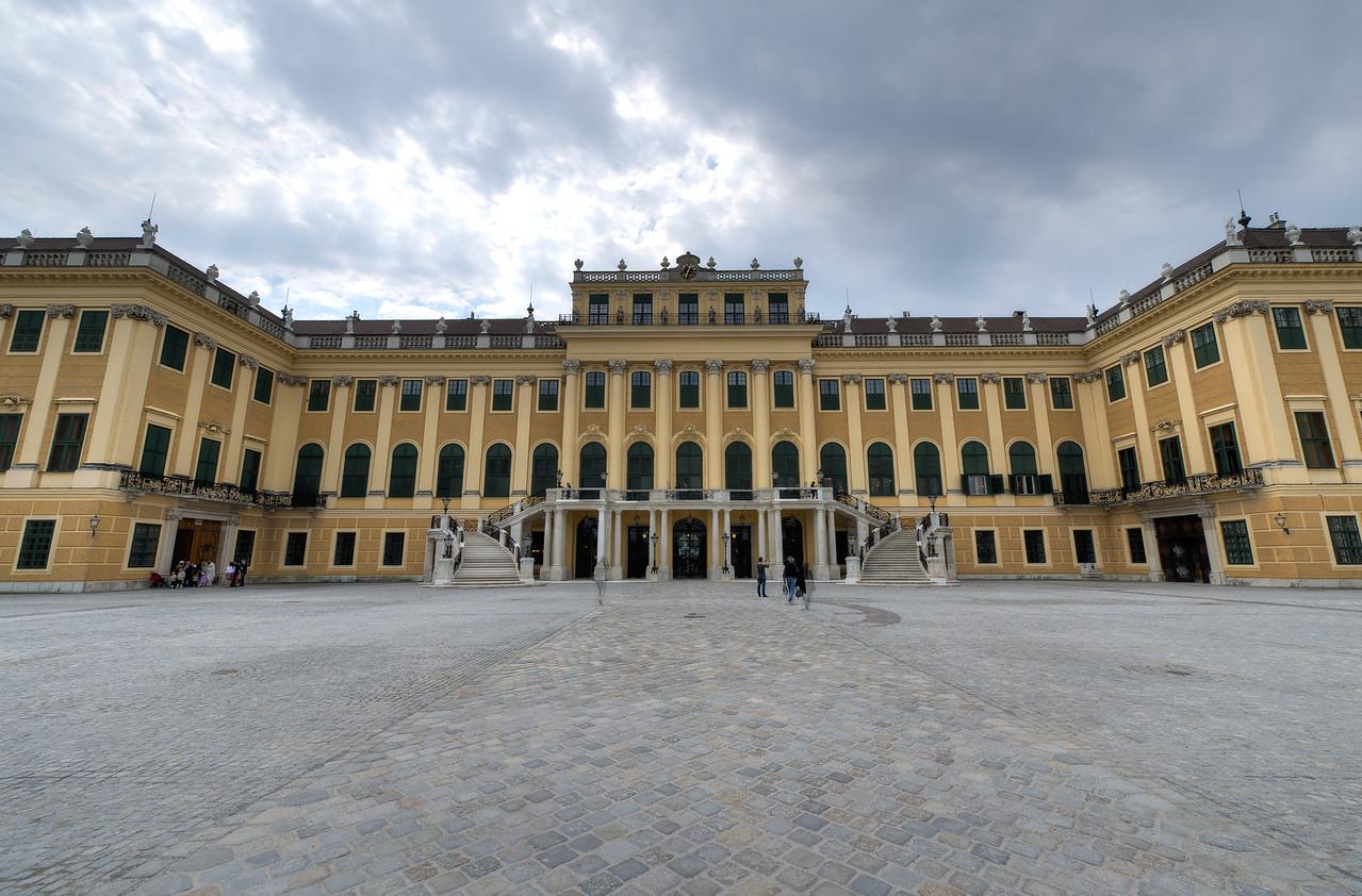 Heavy clouds above the Schonbrunn Palace - Vienna, Austria
