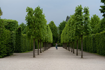 Couple walking at beautifully landscaped garden - Vienna, Austria