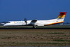 OE-LGA de Havilland Canada DHC-8Q-402 c/n 4014 Amsterdam/EHAM/AMS 22-04-05 (35mm slide)