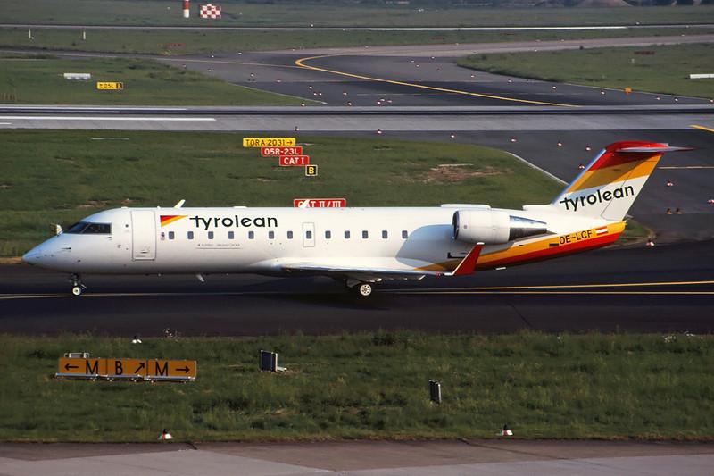 OE-LCF Canadair Regional Jet 200LR c/n 7094 Dusseldorf/EDDL/DUS 19-05-98 (35mm slide)