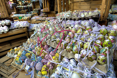 Colorful easter eggs for sale in Vienna, Austria