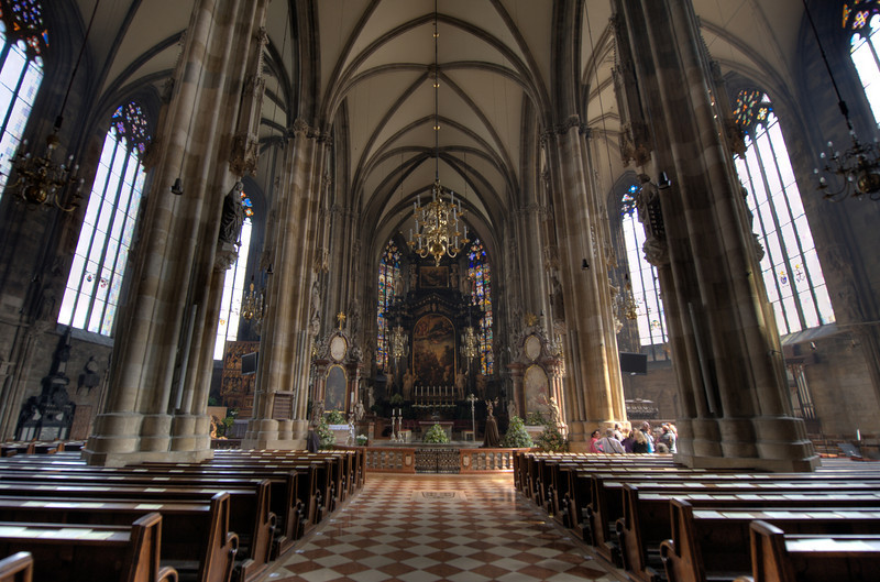 Facing the altar in St. Stephen's Cathedral - Vienna, Austria