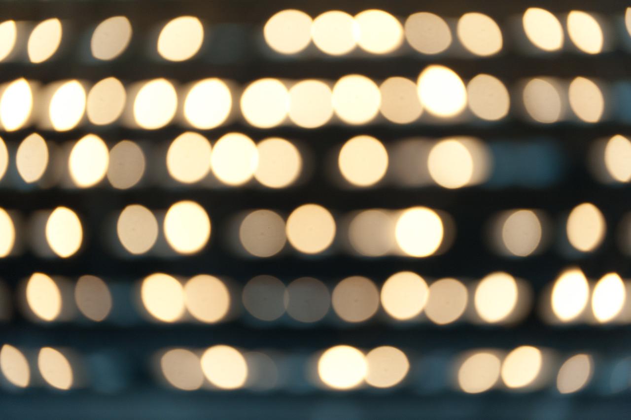 Glowing balls of lights in Vienna, Austria